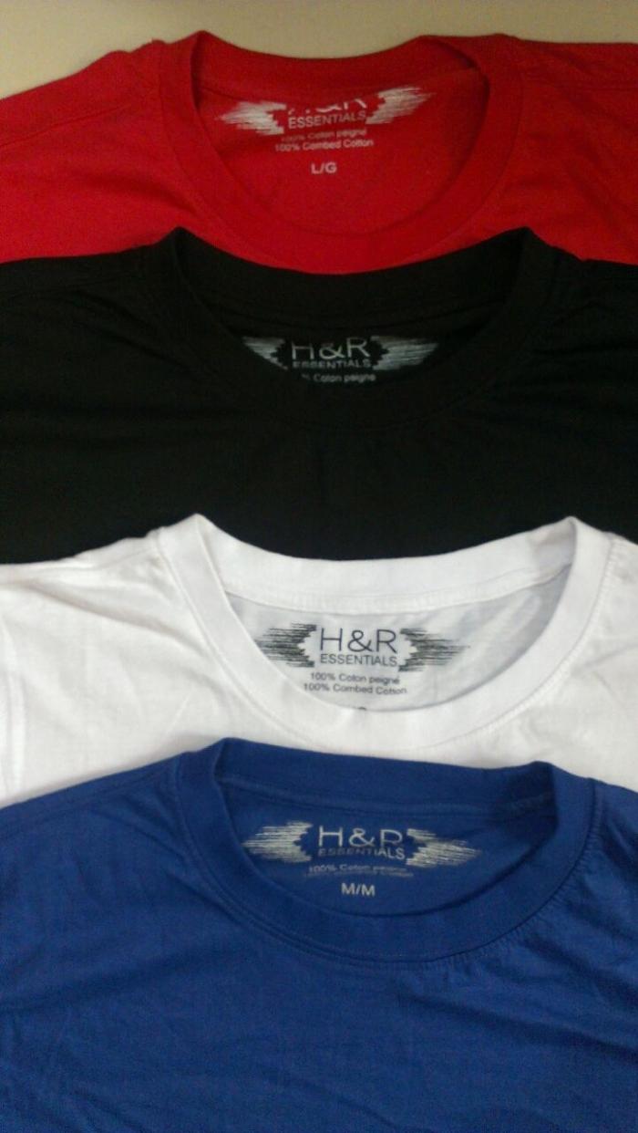 2155a9606ef Men s Solid Round neck T-Shirt - Stocklots and Traders