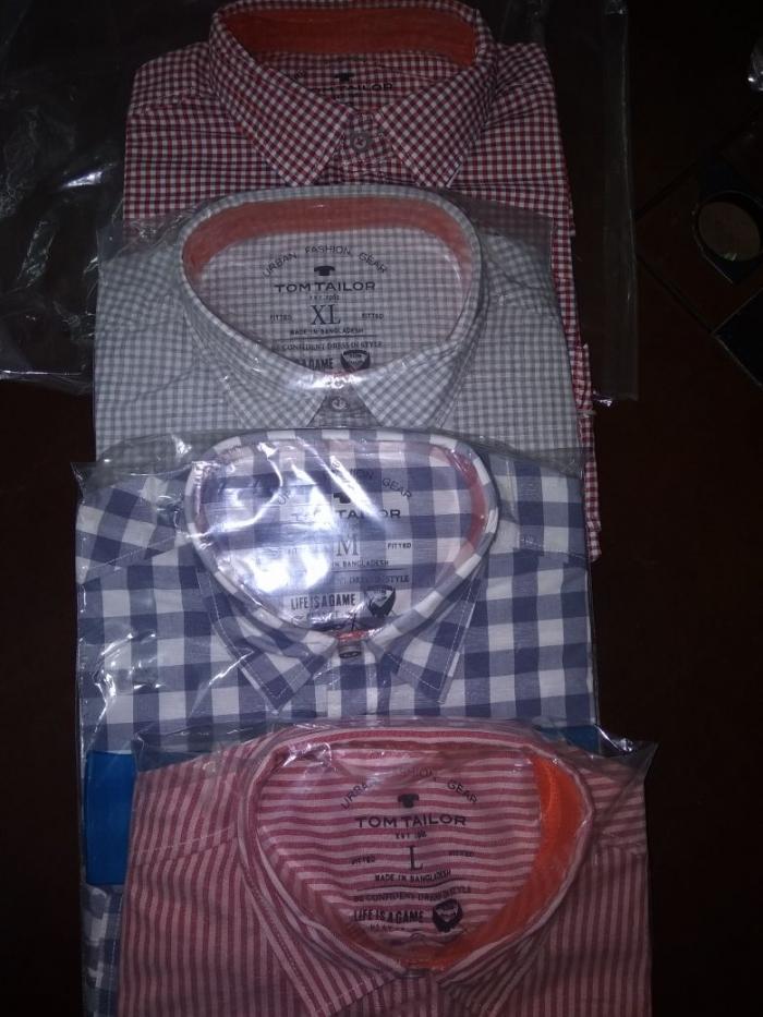 Men shirt   Tom Tailor  250 pcs partial quantity - Stocklots