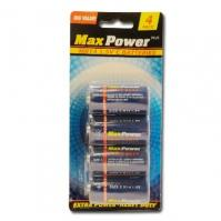 Batteries 1,5 v C - 4 pieces on blister. - Stocklots and Traders - For ...